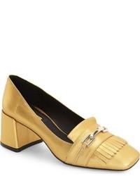 Zapatos de tacón dorados de Topshop