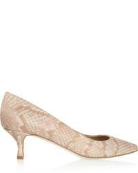 Zapatos de tacón estampados marrón claro de Stella McCartney