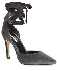 Zapatos de Tacón Gris Oscuro de Topshop