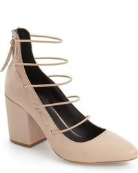 Zapatos de tacón marrón claro de Rebecca Minkoff