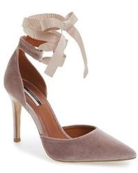 Zapatos de tacón marrón claro de Topshop