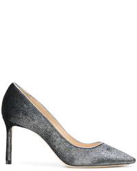 Zapatos de tacón plateados de Jimmy Choo