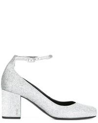 Zapatos de tacón plateados de Saint Laurent