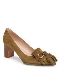 Zapatos de tacón verde oliva de Tod's