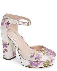 Zapatos de tacón violeta claro de Topshop