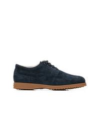 Zapatos derby de ante azul marino de Hogan