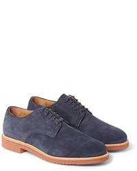 Zapatos derby de ante azul marino de J.Crew