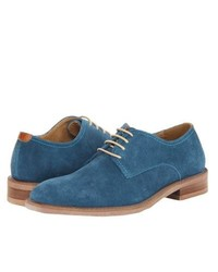 Zapatos derby de ante azules