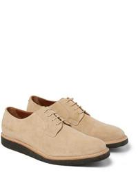 Zapatos derby de ante en beige de Common Projects