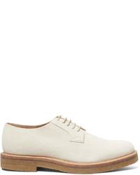 Zapatos derby de ante en beige de Dries Van Noten