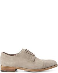 Zapatos derby de ante en beige de Paul Smith