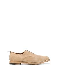 Zapatos derby de ante en beige de Silvano Sassetti