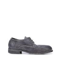 Zapatos derby de ante en gris oscuro de Guidi