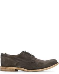 Zapatos derby de ante en gris oscuro de Officine Creative