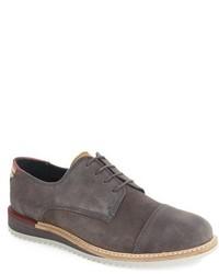 Zapatos derby de ante en gris oscuro de Ted Baker