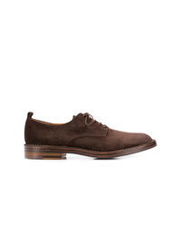 Zapatos derby de ante en marrón oscuro de Buttero