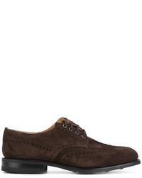 Zapatos derby de ante en marrón oscuro de Church's