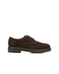 Zapatos derby de ante en marrón oscuro de Henderson Baracco