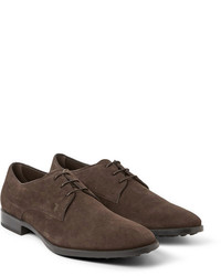 Zapatos derby de ante en marrón oscuro de Tod's