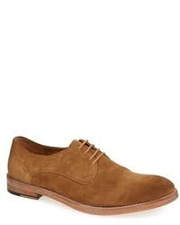 Zapatos derby de ante en tabaco de Frank Wright