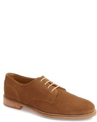Zapatos derby de ante en tabaco de J Shoes