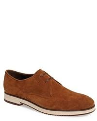 Zapatos derby de ante en tabaco de Salvatore Ferragamo