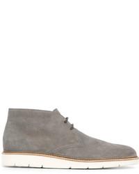 Zapatos derby de ante grises de Hogan