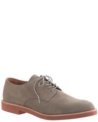 Zapatos derby de ante grises de J.Crew