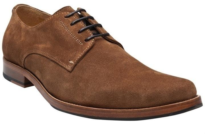 Zapatos derby de ante marrónes de Generic Man