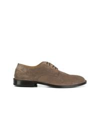 Zapatos derby de ante marrónes de Green George