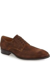 Zapatos Derby de Ante Marrónes de Mezlan