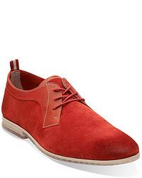 Zapatos derby de ante rojos