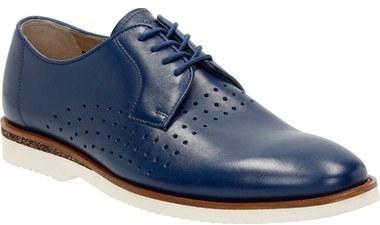 Zapatos De Azules Derby Cuero Clarks gbfIYy76v