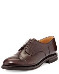 Zapatos derby de cuero burdeos de Brunello Cucinelli