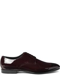 Zapatos Derby de Cuero Burdeos de Burberry