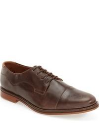 Zapatos derby de cuero en marrón oscuro de J Shoes