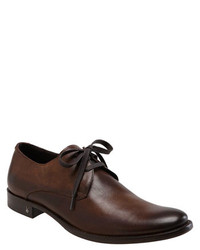 Zapatos derby de cuero en marrón oscuro de John Varvatos Star USA
