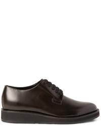 Zapatos derby de cuero en marrón oscuro de Marni