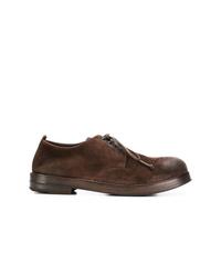 Zapatos derby de cuero en marrón oscuro de Marsèll