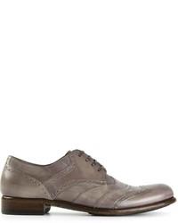 Zapatos derby de cuero grises