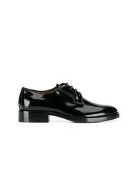 Zapatos derby de cuero negros de Givenchy