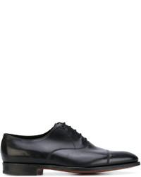 Zapatos derby de cuero negros de John Lobb