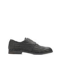 Zapatos derby de cuero negros de Officine Creative