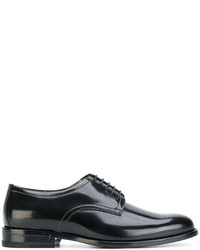 Zapatos Derby de Cuero Negros de Saint Laurent
