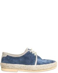 Zapatos oxford de ante azules de Dolce & Gabbana