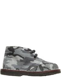 Zapatos oxford de ante de camuflaje grises de Pépé