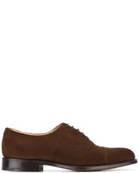 Zapatos oxford de ante en marrón oscuro de Church's