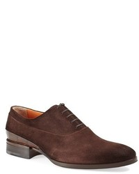 Zapatos oxford de ante en marrón oscuro de Santoni