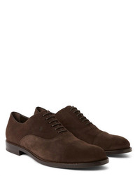 Zapatos oxford de ante en marrón oscuro de Tod's