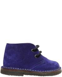 Zapatos oxford de ante en violeta de Pépé